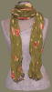 Olive Applique Scarf O